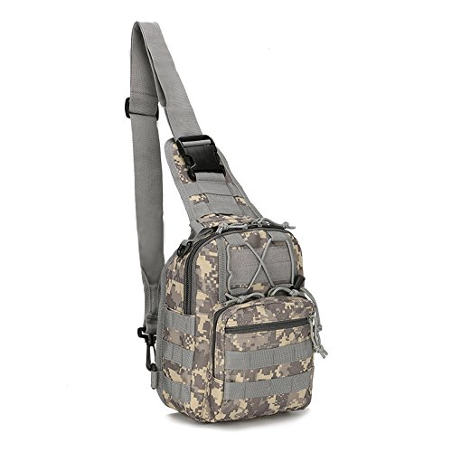 Backpack Digital Acu Camo - FAMI Tactical Bag, Single Shoulder Messenger Bag, Chest Bag, Casual Office Tactical Satchel, Small Tool Backpak, Bag Which is Suitable Carrying ipad, Smart Phone, Wallet Daily Necessities -ACU