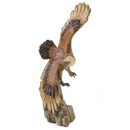 Soaring American Bald Eagle Bird Statue Figure Figurine [Kitchen]