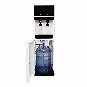 Costway Bottom Loading Water Cooler Dispenser Underlying Stainless Steel Water Cooler Dispenser Cold Hot 5 Gallon Home Office