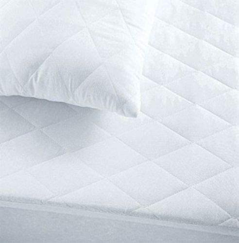 GC Quilted Mattress Protectors Luxurious Super Soft Cosy Hypo-Allergenic Breathable Non Noisy Fitted Style Mattress Protectors (Double)