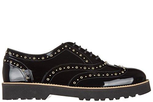 Hogan clásico zapatos de cordones mujer en piel nuevo brogue h259 francesina rou