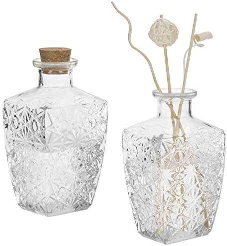 MyGift Diamond Faceted Diffuser Bottles Corked product image