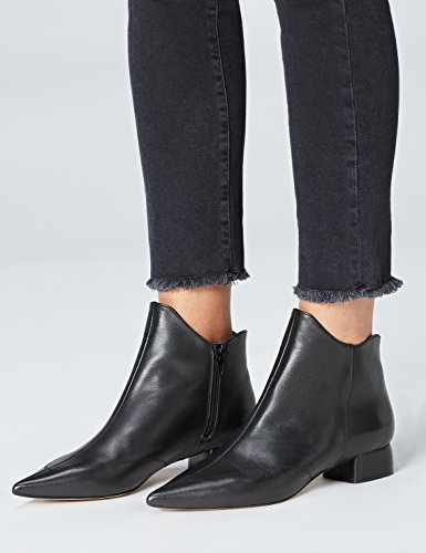 Women's Toes Ankle Black Pointed FIND Boots Block Heel ZWAwaPSnq