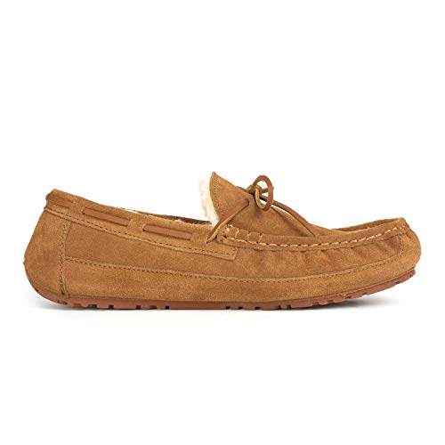 DREAM PAIRS Men's Au-Loafer-02 Tan Faux Fur Slippers Loafers Shoes Size 10 M US by DREAM PAIRS (Image #2)
