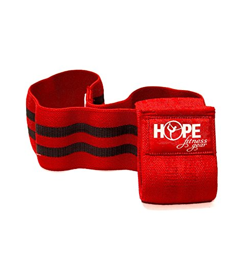 Hope Fitness Gear Booty Band - Thick Fabric Resistance Band (Medium, Red) (Best Fitness Band On The Market)