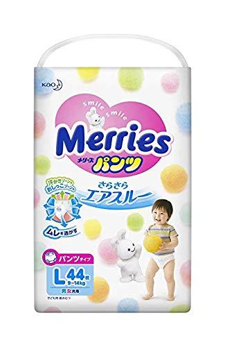 Merries Pants Size L 44 Sheets per Bag 9-14 kg x3 Bags Deal ()
