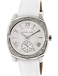 Michael Kors Women's Bryn MK2385 Silver Leather Quartz Watch