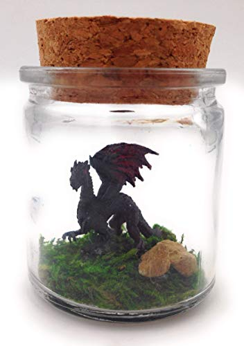 1 Inch Pet Dragon Black with Adoption Certificate
