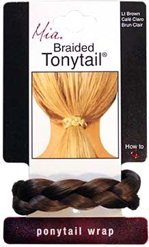 Mia Beauty Braided Tonytail Pony Tail Wrap, Light Brown, 0.05 Ounce (Braid With Ponytail)