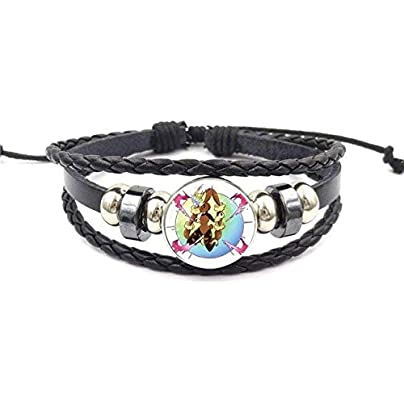 ZUOZUO Leather Wristband For Valentine S Best Friendship Jewelry Black Leather Bracelet Bracelet Jewelry Crystal Gift Estimated Price £16.99 -