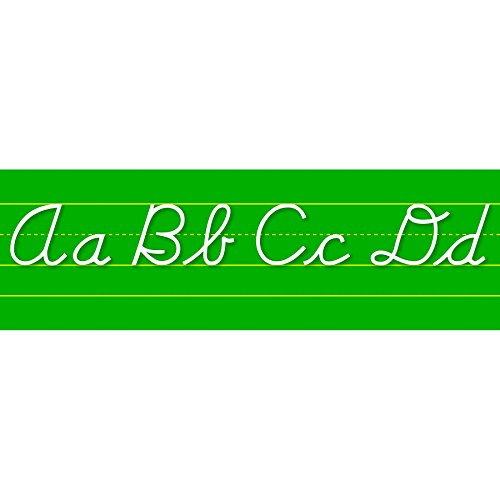 NORTH STAR TEACHER RESOURCE Contemporary Cursive Alphabet Lines Bulletin Board Set