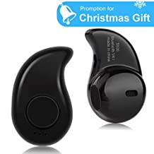 Bluetooth Earbud Wireless Mini Earphone Invisible Earpiece Headset with Microphone Hands-free Calling for iPhone Tablets Samsung And Other Smartphone (One Piece)