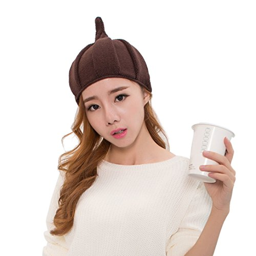 Discount! Wensltd Womens Warm Pointy Top Knit Twist Hat Cap (Coffee)