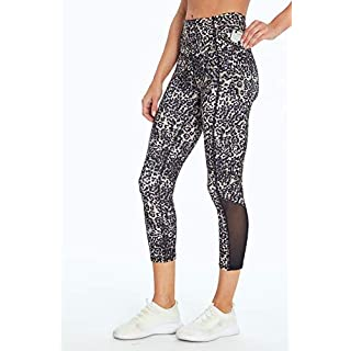 Jessica Simpson Sportswear Ace Pocket Capri Legging, Cinder Cheetah, Medium