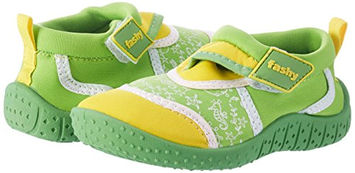 Fashy® Niños Pequeños Outdoor Sport de y schwimmschuhe Aqua Guantes de neopreno y malla con velcro y TPR de suela Grün/Gelb