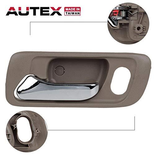 Honda Accord Interior Door Handle - AUTEX Door Handle Interior Front Left Side Driver Side (LH) Replacement Compatible with Honda Accord 1998 1999 2000 2001 2002 72165S0XA21ZB 72165S84A01ZB 82212