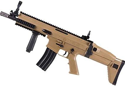 FN Spr Scar-L (Cybergun Fusil de Airsoft - Arma Larga de Bolas Calibre 6mm de Muelle - Potencia: 0.9 Julios