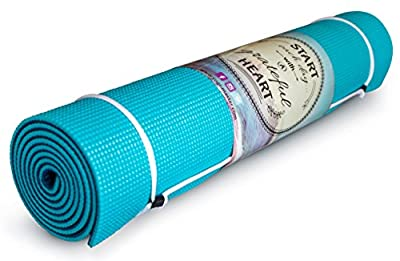 "Thick Yoga Mat Non-Slip - 1/4"" Memory Foam for Comfort and Stability - Perfect for Beginner or Intermediate - 2 Mats in 1 - Eco Friendly - Enhance your Ashtanga, Vinyasa, Pilates - Order Today !"