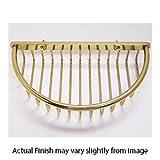 3/8'' Half-Oval Shower Basket - Polished Brass