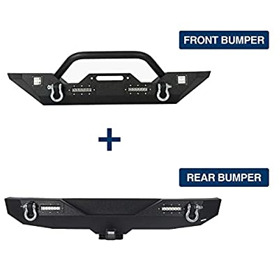 u-Box Jeep Wrangler Combo Bumpers Front & Rear Kit for 07-18 Jeep JK & Wrangler Unlimited