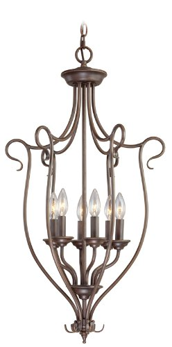 - Livex Lighting 6128-58 Pendant with No Shades, Imperial Bronze