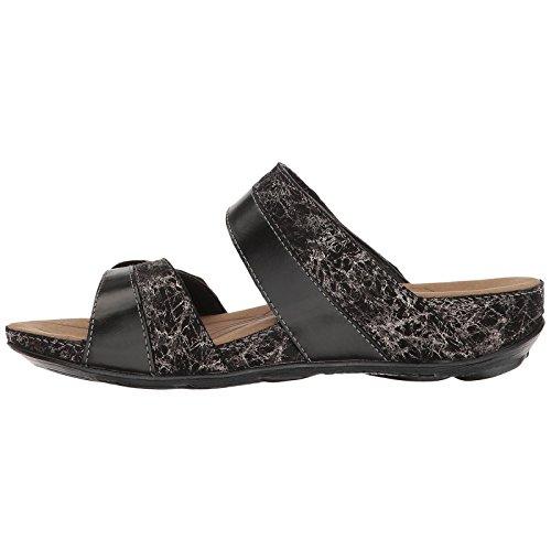 Romika Womens Fidschi 22 Leather Sandals Black