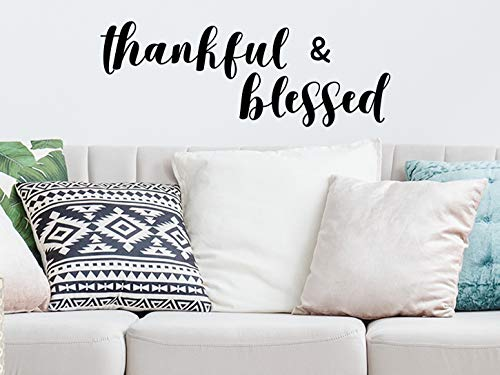 Story Of Home Llc Thankful And Blessed Religious Bible Verse Wall Decal Vinyl Art Decor Sticker Buy Online In Kuwait At Desertcart Com Kw Productid 132580810