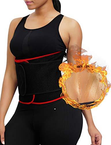 Feelingirl Waist Trimmer Waist Cincher Sweat Belt Waist Trainer Corset for Weight Loss