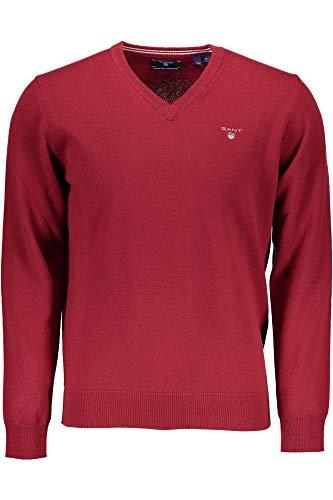 neck Homme V 617 Rosso Pull Gant Lambswool w6Tnpx4q4E