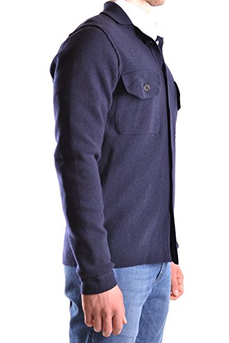 Peuterey Herren MCBI235137O Blau Wolle Strickjacke