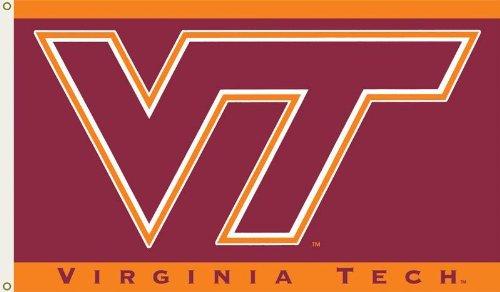 BSI Indoor Outdoor Sports Banner Virginia Tech Hokies Team Logo 3 Ft. X 5 Ft. Flag With Grommets 95011 (Ncaa Banner Bsi Products)