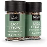 NOMU Essentials Dried Sage Leaves - Rubbed (0.98 oz | 2-pack) | Non-GMO, Non-Irradiated