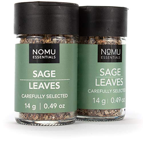 NOMU Essentials Dried Sage Leaves - Rubbed (0.98 oz | 2-pack) | Non-GMO, Non-Irradiated (Cooking Sage)