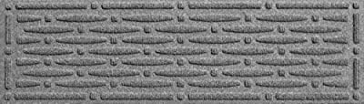 Aqua Shield Mesh Stair Treads, 8.5 by 30-Inch, Medium Grey, Set of 4