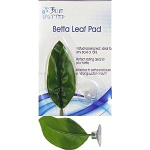 Blue Spotted Betta Plant Leaf Pad for Betta Fish, Tropical Fish Aquariums & Saltwater Fish Aquariums 53
