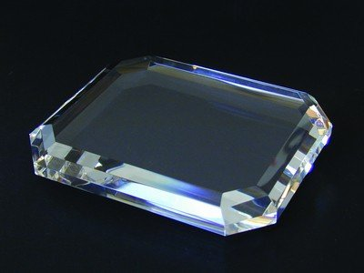 Rectangle Beveled Crystal Paperweight