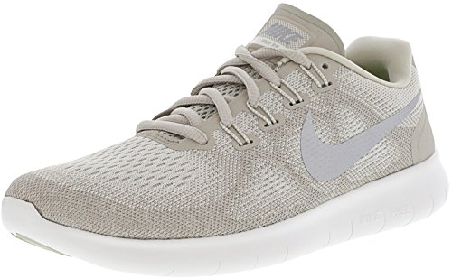 2cbffbb0c0955 Galleon - NIKE Women s Free Rn 2017 Sail Metallic Silver-Pale Grey Ankle-High  Running Shoe - 7.5M