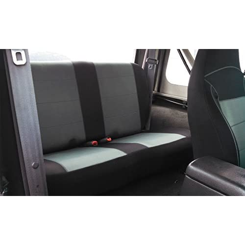 Jeep Wrangler TJ Neoprene Seat Cover Front /& Rear full set 2003-2006 Black fs