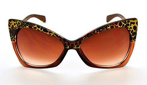 gratuit Mode W qualité classique Brown microfibre de étui Frame Lens femme soleil Vox tendance Hot pour Lunettes haute Brown wYqn6RA