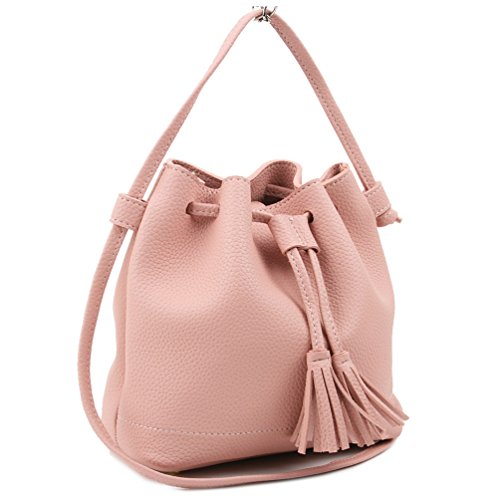 Galleon - Copi Women s Everyday Bucket Bag   Cute Feminine Of Crossbody  Small Bags Pink 3b259140f4363