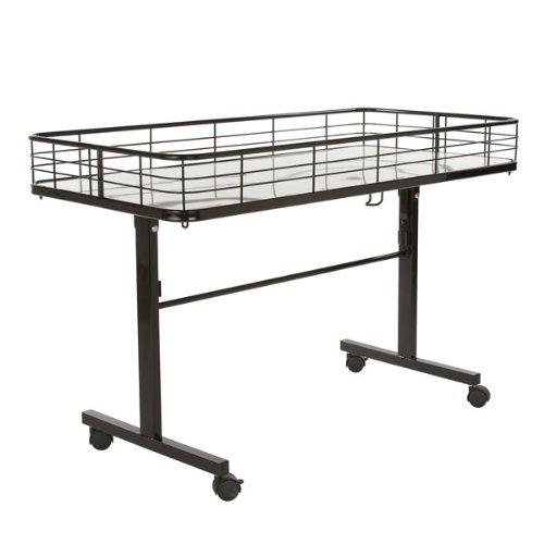The Competitive Store Folding Dump Table - Black (Metal Dump)