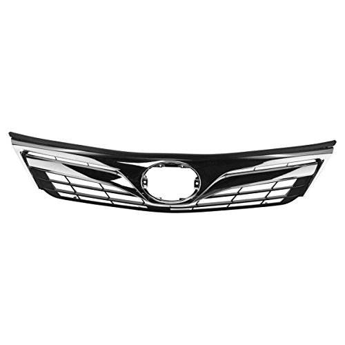 Front Upper Chrome Dark Gray Grill Grille Assembly for Toyota Camry LE XLE
