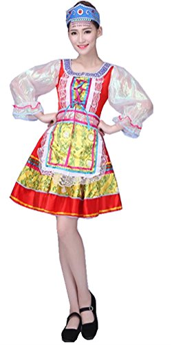 - OSHARE Women Performance Wear Dresses, Women's Russian Deluxe Party Dancing Dress (S)