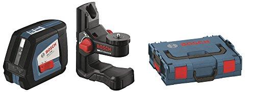 Bosch Professional GLL 2-50 Linien-Laser bis zu 50m Arbeitsbereich mit Schutztasche, Laserzieltafel, L-BOXX 136, Ausrichtscheibe, Universalhalterung BM1