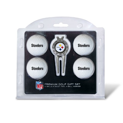 NFL Pittsburgh Steelers 4 Golf Ball And Divot Tool Set by Team Golf