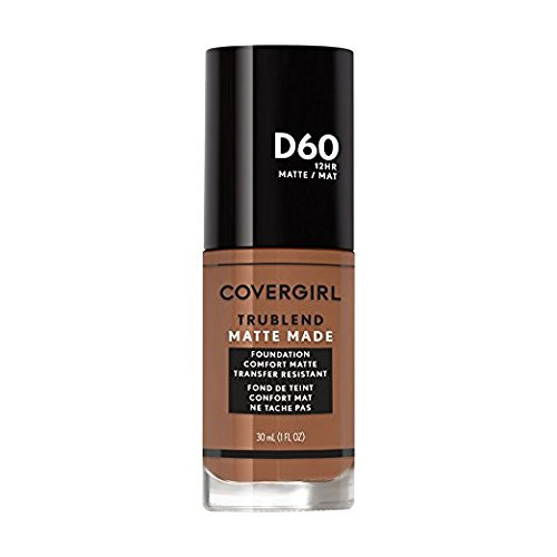 Covergirl Trublend Matte Made Liquid Foundation, D60 Toasted Almond (Pack of 2)