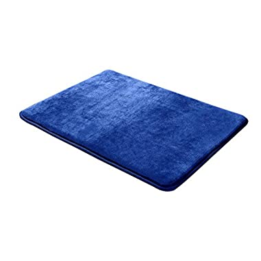 Clara Clark 20-Inch-by-32-Inch Non Slip Memory Foam Bath Rug, Large, Royal Blue