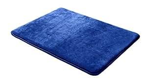 Clara Clark 20-Inch-by-32-Inch Non Slip Memory Foam Bath Rug, Large, Royal Blue