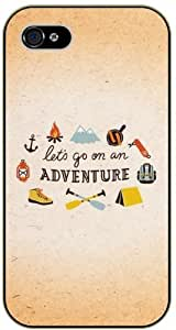 Let's go on an adventure - Camping and play symbols - Adventurer iPhone 5 5s Black plastic case - (Row 11-C)