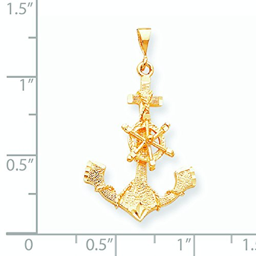 Grande Breloque ancre 10 k or de haute qualité Or 9 Carats JewelryWeb